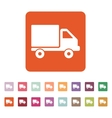 The truck icon Delivery and shipping symbol Flat vector image vector image