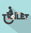 Toilet With Toilet Paper Typography Design vector image vector image