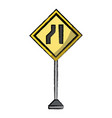 warning road signs design vector image