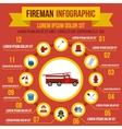 Firefighting infographic elements flat style vector image