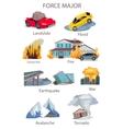 Force Majeure Natural Disaster Set vector image