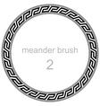 roman meander pattern vector image