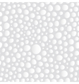 Abstract White Bubbles Seamless Background Pattern vector image vector image