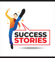 an concept a business success story sharing vector image vector image