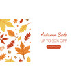 autumn sale landing page template with bright vector image vector image
