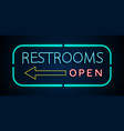 background of neon signs restrooms vector image vector image