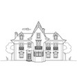 beautiful house design vector image vector image