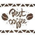best coffee emblem vector image vector image