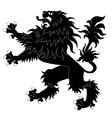 black heraldic lion vector image vector image