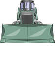 bulldozer b vector image vector image