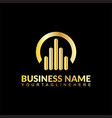 business building logo vector image vector image
