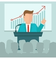 business conference concept in flat style vector image vector image