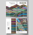 business templates for bi fold brochure flyer vector image vector image