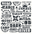 Camping typographic elements vector image vector image