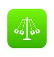 carnival swing ride icon digital green vector image