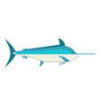 cartoon swordfish or marlin icon vector image vector image