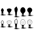Collection of several bulbs on white background vector image vector image