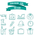 Collection stock New Year icons vector image vector image