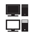 computer desktop icon pc flat sign vector image vector image