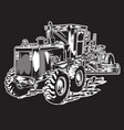 construction tractor car vector image