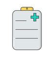 doctor s planchette simple medical icon in trendy vector image