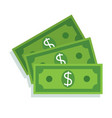 dollar bill icon money cash vector image vector image