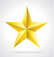 faceted gold star vector image vector image