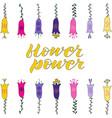 flower power hand lettering vector image vector image