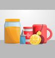 flu home help concept banner cartoon style vector image vector image