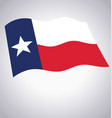 flying waving texas state flag vector image vector image