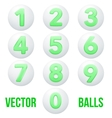 Full collection of icons balls with numbers vector image vector image
