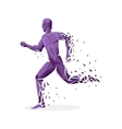 Geometric Particle Run Dance People vector image vector image