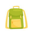 green school backpack school education and vector image