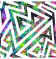 grunge graffiti geometric seamless pattern vector image