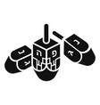 hanukkah dreidel icon simple style vector image vector image