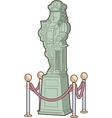 Historical Figure Statue vector image vector image