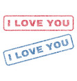 i love you textile stamps vector image vector image