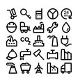 Industrial Icons 8 vector image vector image