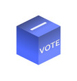 isometric ballot box isolated on white background vector image