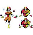 joker jester mascot vector image vector image