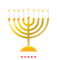 menorah for hanukkah icon different color vector image vector image