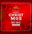 merry christmas big sale concept design vector image vector image