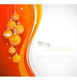 Merry Christmas card with orange bauble vector image vector image