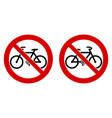no bicycle bicycles not allowed sign black bike vector image