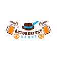 oktoberfest flyer banner beer festival logo vector image vector image