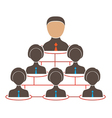 Organization chart with icons of man and women vector image