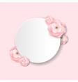 pink flowers postcard vector image vector image