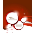 Red background with circles vector image vector image