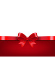 red ribbon isolated white background vector image vector image