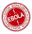 Red stamp with Ebola concept text on white vector image